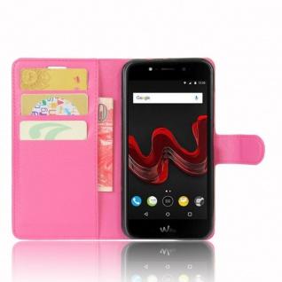Tasche Wallet Premium Pink für Wiko Wim Lite Hülle Case Cover Etui Schutz Neu - Vorschau 2