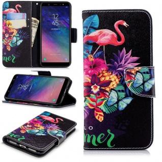 Für Samsung Galaxy A6 Plus A605 2018 Kunstleder Tasche Book Motiv 35 Hülle Case