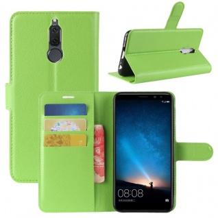 Tasche Wallet Premium Grün für Huawei Mate 10 Lite Hülle Case Cover Etui Schutz