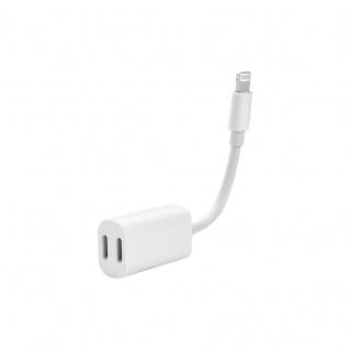 2 Port Lightning Adapter 2x 8 PIN f. Apple iPhone 7 7 Plus Y Kabel Audio + Laden