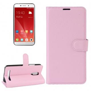 Tasche Wallet Premium Rosa für ZTE Blade A602 Hülle Case Cover Etui Schutz Neu