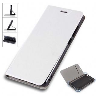 Flip / Smart Cover Weiß für Samsung Galaxy S9 G960F Schutz Etui Tasche Hülle Neu