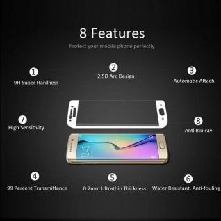 0, 3 mm H9 gebogenes Hartglas Weiß Folie für Samsung Galaxy S8 Plus G955F Neu - Vorschau 2