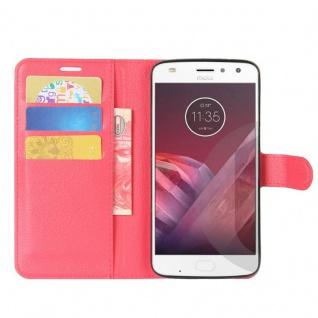 Tasche Wallet Premium Rot für Motorola Moto Z2 Play Hülle Case Cover Etui Schutz - Vorschau 5