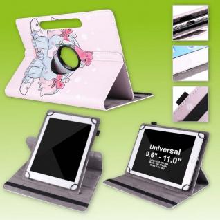 Für Lenovo Tab E10 TB-X104F 10.1 360 Grad Motiv 4 Tablet Tasche Kunst Leder Etui
