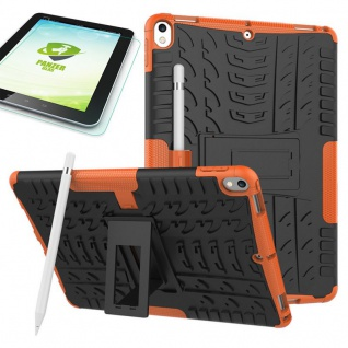 Hybrid Outdoor Hülle Orange für Apple iPad Pro 10.5 Tasche + 0.4 H9 Hartglas