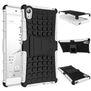 Hybrid Case 2teilig Outdoor Weiss Tasche Hülle für Sony Xperia Z5 5.2 Zoll Cover