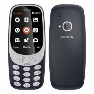 Retro Nokia 3310 2MP Handy Mobiltelefon Kamera Snake Dunkelblau
