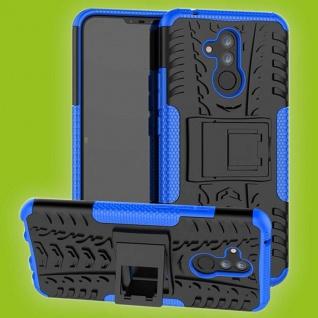 Für Huawei Mate 20 Lite Hybrid Case 2teilig Outdoor Blau Tasche Cover Hülle Etui