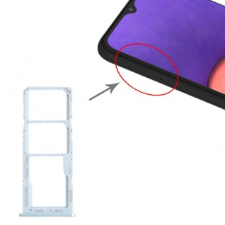Dual Sim Karten + Micro SD Halter Card Tray für Samsung Galaxy A22 Grün