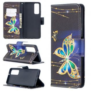 Für Huawei P Smart 2021 Kunst-Leder Handy Tasche Motiv 2 Hülle Case Etuis Cover