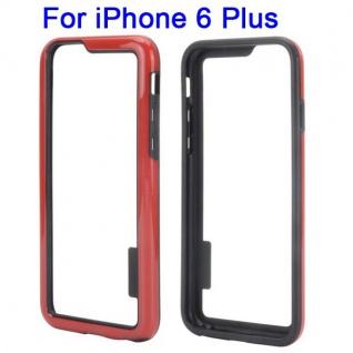 Hybrid Schutz Bumper Rot Hülle Case Tasche für Apple iPhone 6 Plus 5.5 Kappe Neu