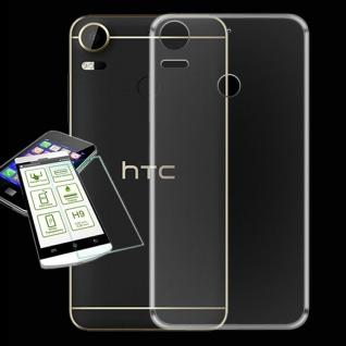 Für HTC Desire 10 Pro Silikoncase Transparent Tasche + 0, 3 H9 Schutzglas Hülle