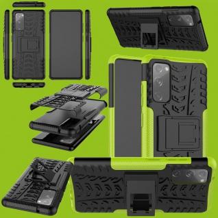Für Samsung Galaxy S20 FE Hybrid Case Outdoor Grün Handy Tasche Etuis Cover Neu