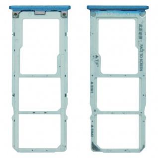 Für Xiaomi Mi A2 Lite / Redmi 6 Pro Karten Halter Sim Tray Schlitten Blau Neu