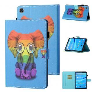 Für Lenovo Tab M10 Plus 10.3 Zoll X606F Motiv 82 Tablet Tasche Kunst Leder Etuis