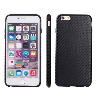 Hardcase Carbone Style Schwarz für Apple iPhone 6 6S Plus 4.7 Tasche Hülle Neu