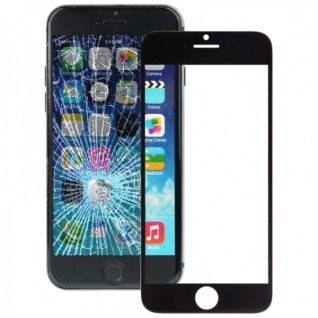 Displayglas Glas Schwarz für Apple iPhone 6 4.7 Zubehör + Werkzeug Opening Tool