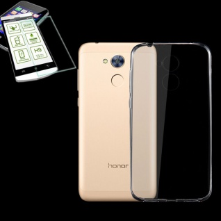 Silikoncase Transparent Tasche + 0, 3 H9 Panzerglas für Huawei Honor 6A Hülle Neu
