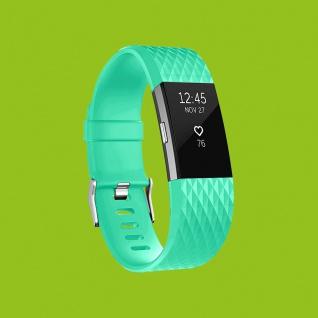 Für Fitbit Charge 2 Kunststoff / Silikon Armband für Männer / Größe L Türkis Uhr