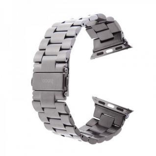HOCO Edelstahl Armband Grau für Apple Watch Alu 42 mm + Adapter iWatch Zubehör
