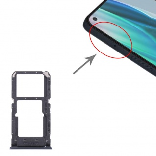 Dual Sim Karten + Micro SD Halter Card Tray für OnePlus Nord N10 5G Schwarz