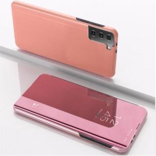 Für Samsung Galaxy S21 Plus View Smart Cover Hülle Pink Handy Tasche Etuis Case