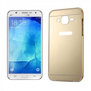 Alu Bumper 2 teilig Abdeckung Gold für Samsung Galaxy J5 Hülle Case Tasche Neu