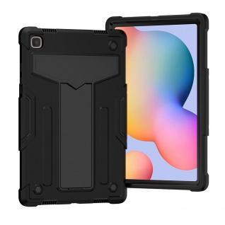 Für Samsung Galaxy Tab A7 10.4 aufstellbare Tablet Schutzhülle Cover Schwarz