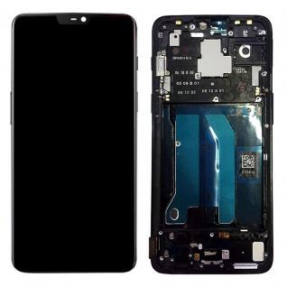 Für ONEPlus 6 Reparatur Display LCD Komplett Einheit mit Rahmen Touch Schwarz