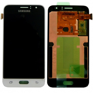 Display LCD Komplettset GH97-18224A Weiß für Samsung Galaxy J1 J120F 2016 Neu