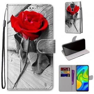 Für Xiaomi Redmi Note 9 Kunst-Leder Handy Tasche Motiv 3 Hülle Etuis Cover Neu