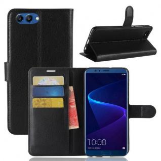 Tasche Wallet Premium Schwarz für Huawei Honor View 10 / V10 Hülle Case Cover