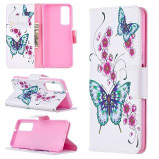 Für Huawei P Smart 2021 Kunst-Leder Handy Tasche Motiv 4 Hülle Case Etuis Cover