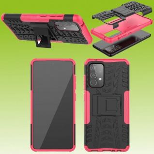 Für Samsung Galaxy A52 5G Hybrid Case Outdoor Pink Handy Tasche Etuis Hülle Neu