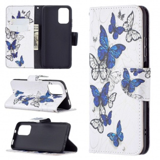 Für Xiaomi Redmi Note 10 Pro Kunst-Leder Handy Tasche Motiv 3 Hülle Case Etuis