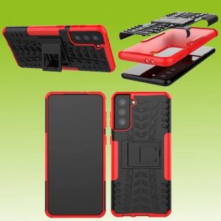 Für Samsung Galaxy S21 Plus G996B Outdoor Rot Handy Tasche Etuis Hülle Cover