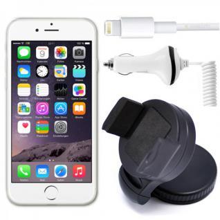 Universelle 360 KfZ Halterung für Apple iPhone 5 4.7 und 6 Plus 5.5 + Ladekabel