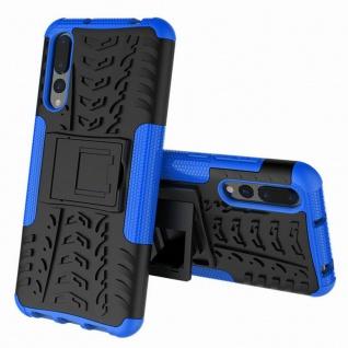 Für Huawei P20 Pro Hybrid Case 2teilig Outdoor Blau Etui Tasche Hülle Cover Neu