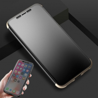 Original ROCK Shadow Smartcover Tasche Gold für Apple iPhone X / XS 5.8 Zoll Neu