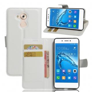 Tasche Wallet Premium Weiß für Huawei Honor 6C Hülle Case Cover Etui Schutz Neu