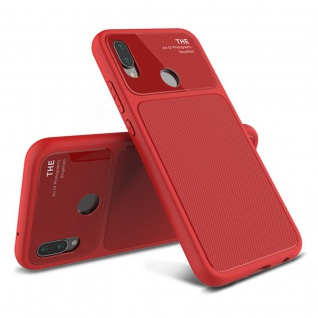 Design Cover Rot für Huawei P20 Lite TPU Silikon Schutz Tasche Hülle Case Neu
