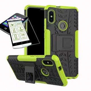 Für Xiaomi Redmi Note 5 Hybrid Tasche Outdoor 2teilig Grün + H9 Glas Cover Case