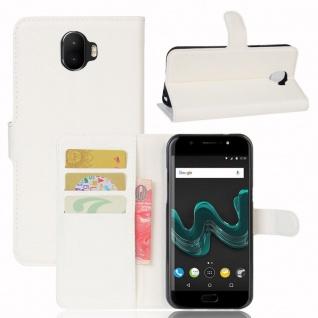 Tasche Wallet Premium Weiß für Wiko Wim Hülle Case Cover Etui Schutz Neu Design