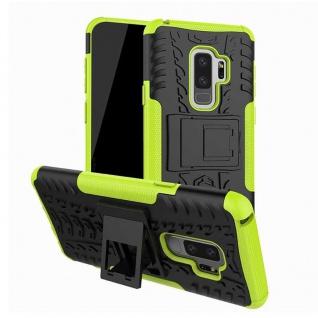 Hybrid Case 2teilig Outdoor Grün Tasche Hülle für Samsung Galaxy S9 G960F Hülle