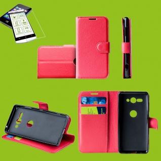 Für Samsung Galaxy S10e G970F Tasche Wallet Etuis Rot Hülle + H9 Hart Glas Cover