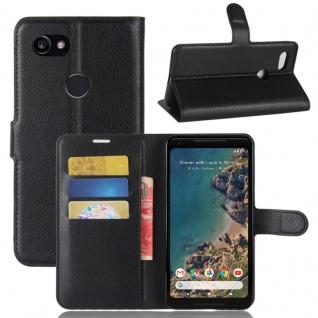 Tasche Wallet Premium Schwarz für Google Pixel 2 XL Hülle Case Cover Etui Schutz
