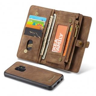 Schutzhülle Handy Tasche f. Samsung Galaxy S9 G960F Geldbeutel Hülle Etui Braun