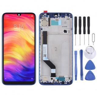 Für Xiaomi Redmi Note 7 und Pro Display Full LCD Touch mit Rahmen Ersatz Blau