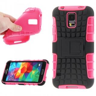 Hybrid Case 2teilig Robot Pink Cover Hülle Zubehör Etui für Samsung Galaxy S5